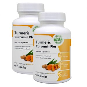 Image of Tumeric Curcumin Plus bottles