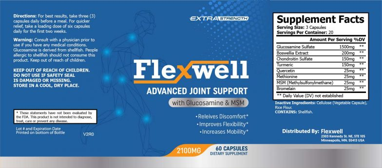 flexwell product label