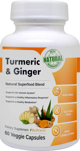 turmeric and ginger bottle
