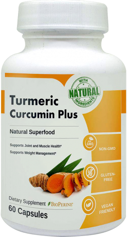 turmeric curcumin plus bottle