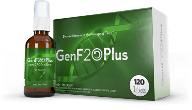 genf20 plus bottle and box