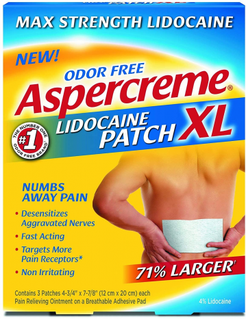 Featured image for: Aspercreme Lidocaine Patch Reviews:  Maximum Strength! # Does it work?